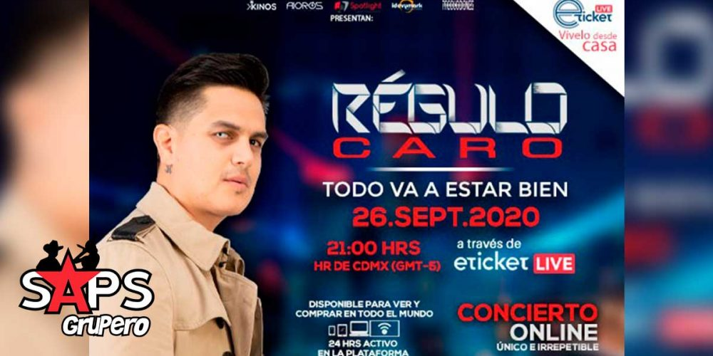 Regulo Caro ofrecerá concierto On Line en el mes de septiembre