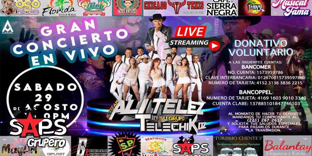 Ali Telez Y Su Grupo Telechikoz preparan concierto live streaming