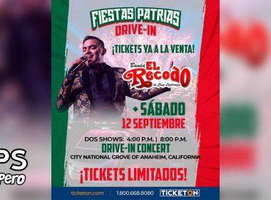 """Banda El Recodo ofrecerá concierto en vivo, denominado """"Fiestas Patrias Drive-In"""