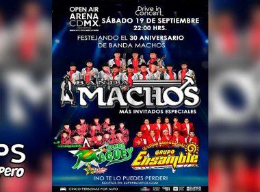 Banda Machos abrirá el Auto Conciertos Open Air en la Arena CDMX