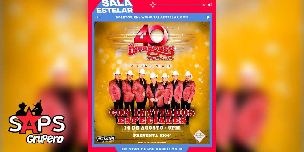 SAPS Grupero te regala accesos para concierto de Los Invasores De Nuevo León