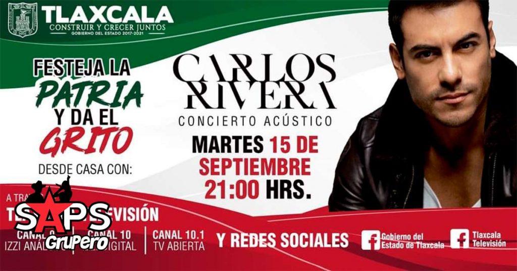 Carlos Rivera festejará La Patria y dará El Grito con un concierto acústico