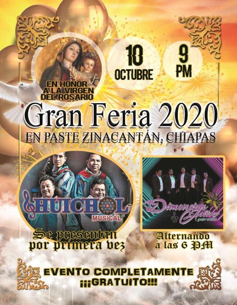 La Gran Feria en Pasté Zinacantán, Chiapas 2020