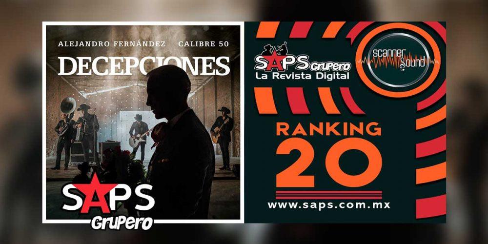RANKING 20 MÉXICO Scanner Sound Grupo