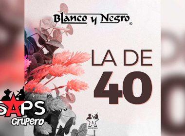 Letra La De 40 – Blanco y Negro