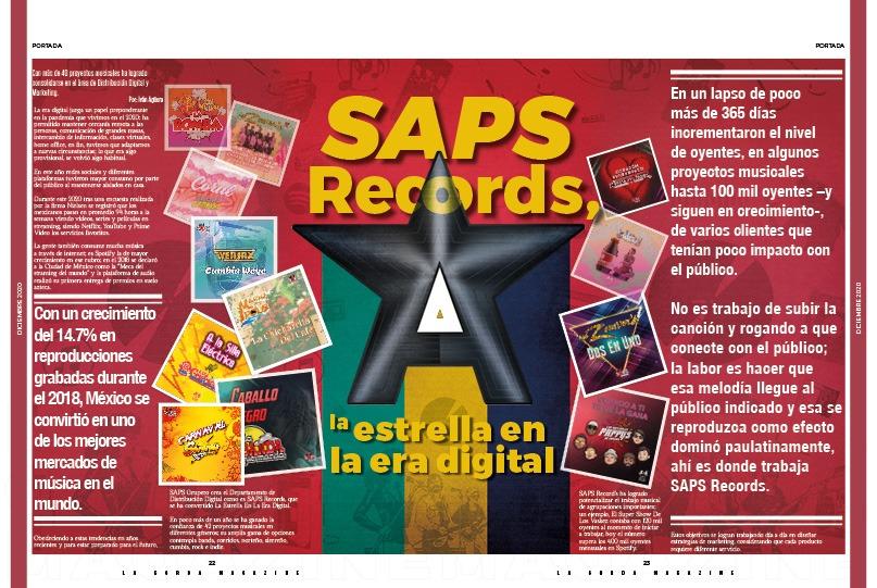 Portada La Gorda Magazine Diciembre, SAPS Records