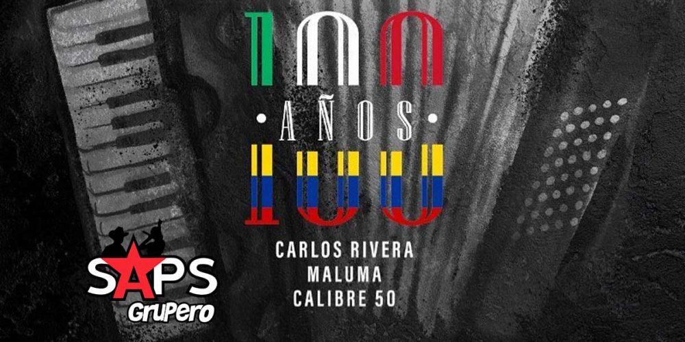 LETRA 100 años, calibre 50, CARLOS RIVERA, MALUMA