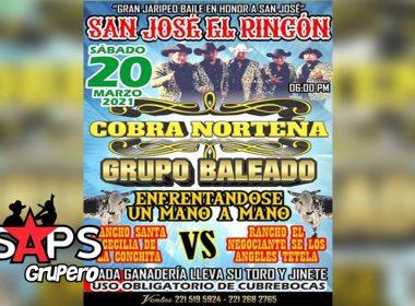 """San José El Rincón tendrá jaripeo con """"Cobra Norteña"""" y """"Grupo Baleado"""""""