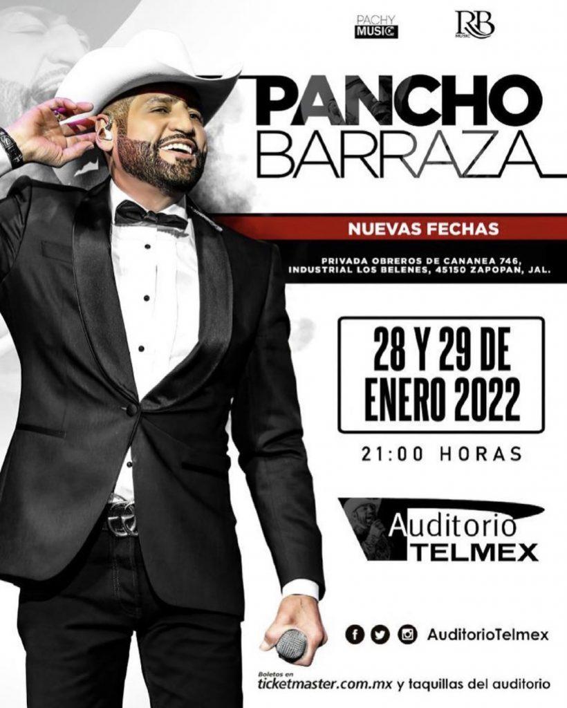 FECHAS PANCHO BARRAZA EN AUDITORIO TELMEX